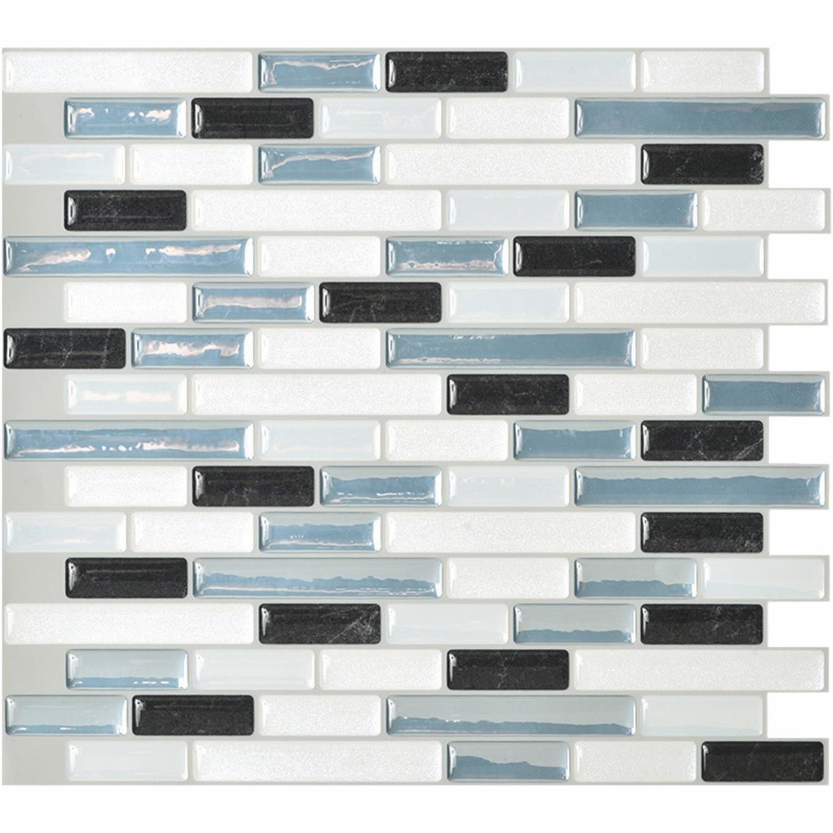 - Smart Tiles 10.2 In. X 9.1 In. Glass-Like Plastic Backsplash Peel