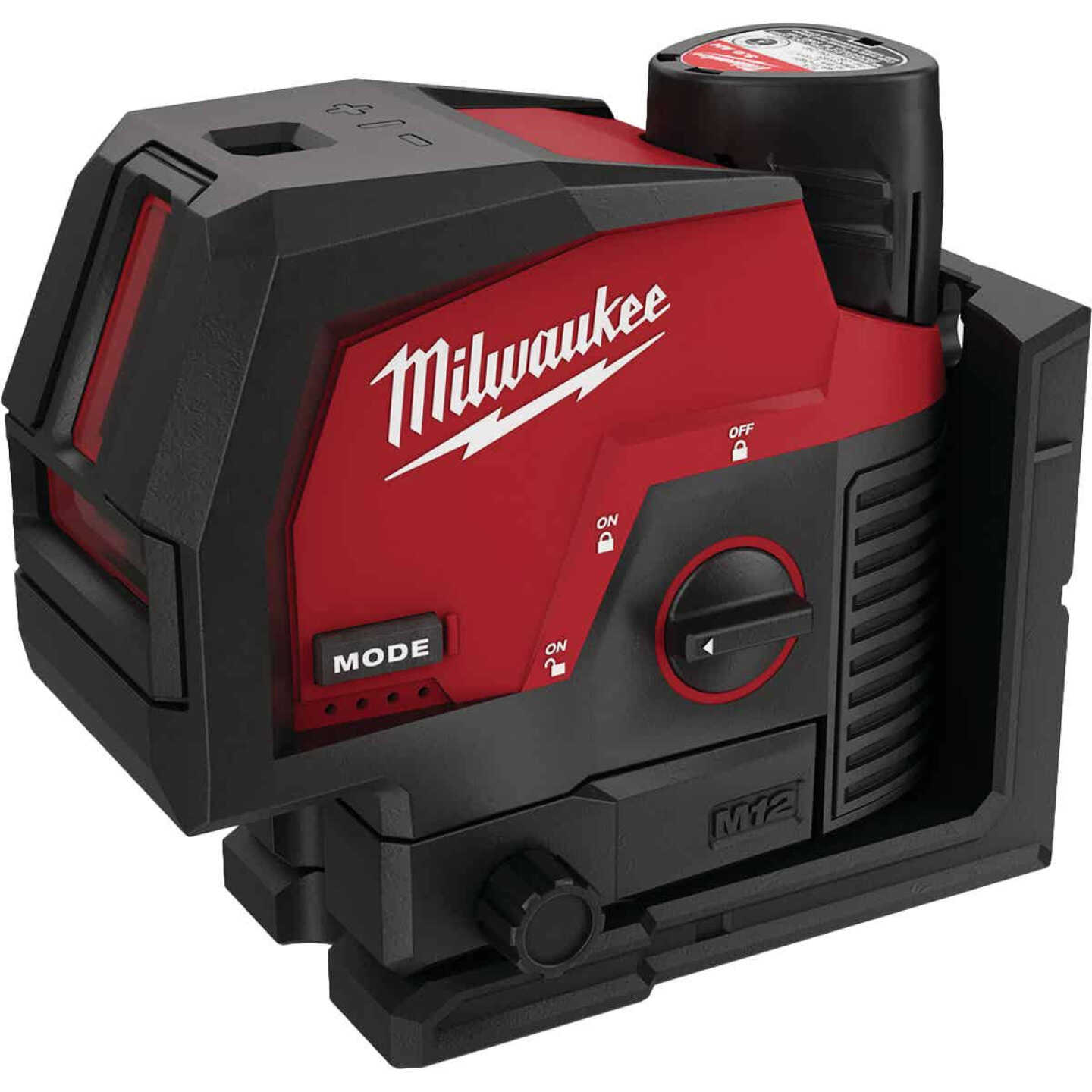 Milwaukee M12 Green Cross Line & Plumb Points Laser Kit with Battery Image 1