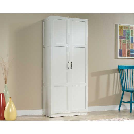 Sauder White Storage Cabinet