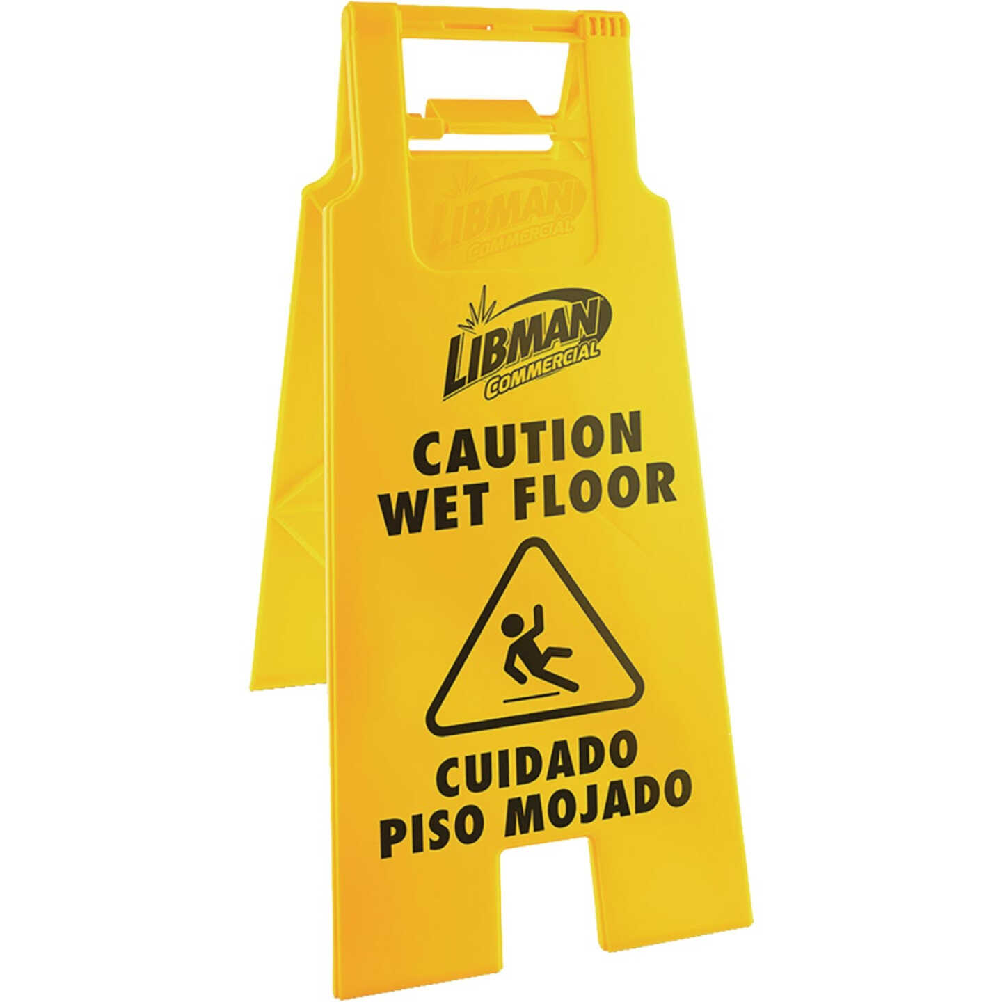 Libman 2-Sided Caution Wet Floor Sign Image 1