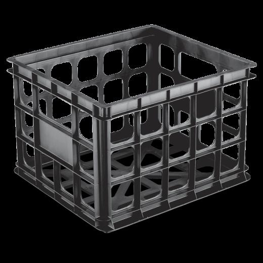 Sterilite Storage Black Crate