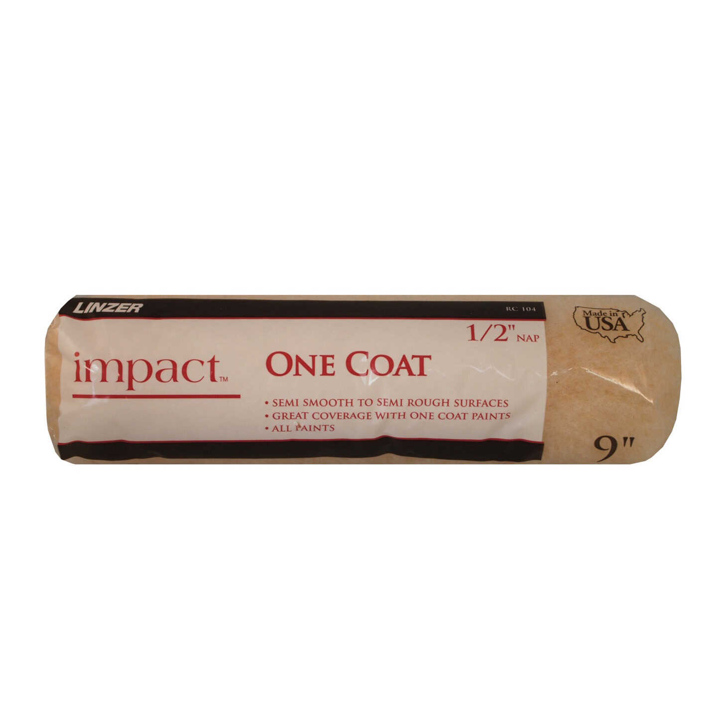 """Linzer 9"""" x 1/2"""" Impact Knit Roller Cover Image 1"""