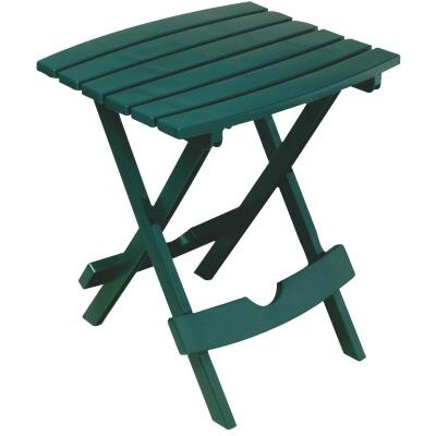 Adams Quik-Fold Hunter Green 15 In. x 17.5 In. Rectangle Resin Folding Side Table